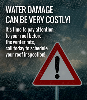 Water damage can be very costly!